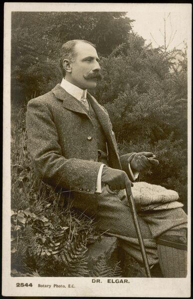 ELGAR OUT WALKING. EDWARD ELGAR Postcard, Circa 1905