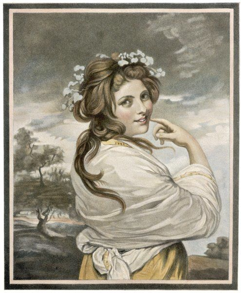EMMA, LADY HAMILTON mistress of Horatio Nelson, depicted as a Bacchante