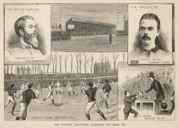 The Final of the Football Association Challenge Cup : The Old Etonians beaten by Blackburn Olympic