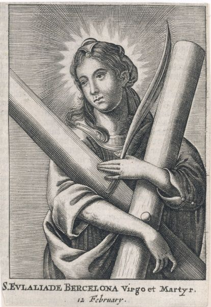 EULALIA (SAINT) OF BARCELONA Spanish martyr (under Diocletian) - patron saint of sailors