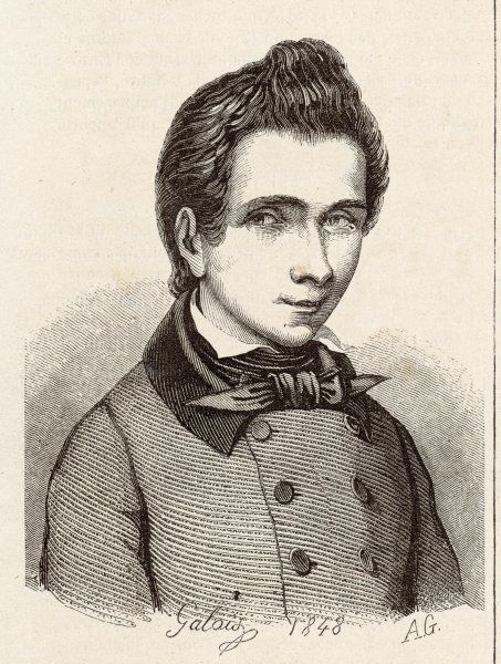 Evariste Galois, French mathematician. Sadly, he died in a duel at the age of 20