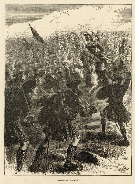 A scene from the Battle of Culloden