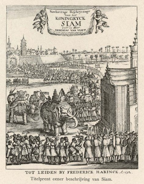 Frontispiece to a Dutch book on Siam
