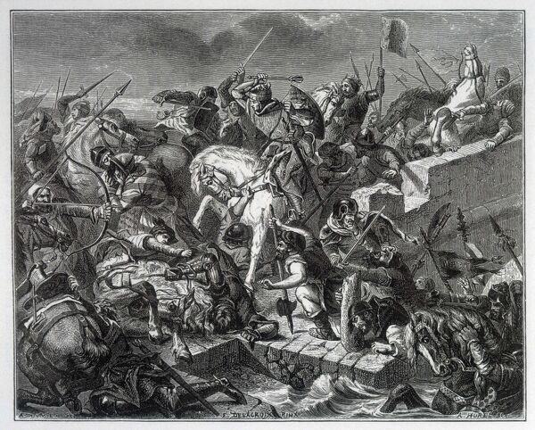 Battle of TAILLEBOURG : French led by Louis IX defeat the English under Henry 111 and his allies, the French rebel vassals