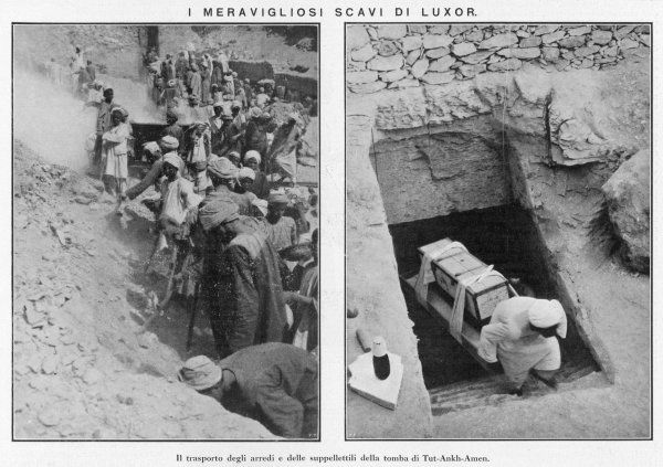 The excavation of Tutankhamen's tomb