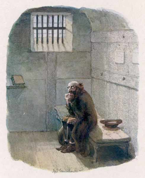 FAGIN IN HIS CELL. Fagin in the condemned cell