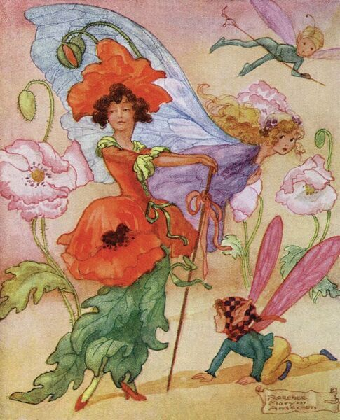 """Fairy Flowers by Florence Mary Anderson. ""Admire me. See how gorgeous I am"", from The Secret of the Flowers by Edith M Coker.""     1919"