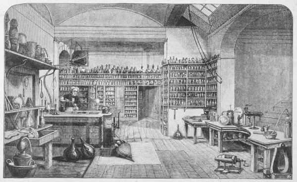 MICHAEL FARADAY - English scientist at work in his laboratory
