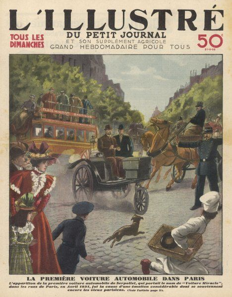 The first automobile in the streets of Paris is Leon Serpollet's 'Voiture Miracle', authorised by the police to drive in public