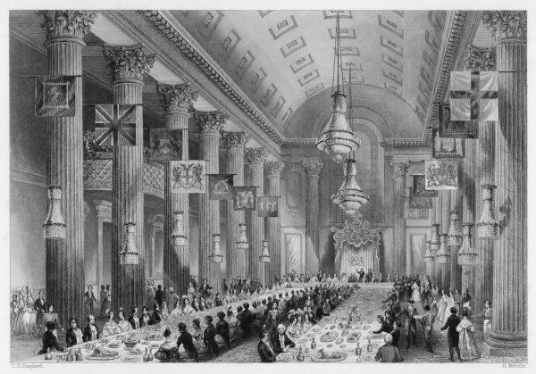 A banquet in the Egyptian Hall, Mansion House