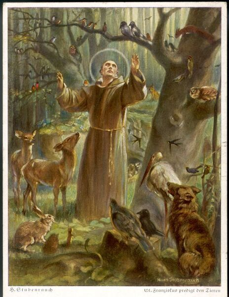 SAINT FRANCIS OF ASSISI - preaching to the animals