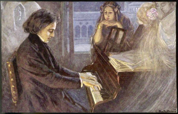 FREDERIC CHOPIN Polish musician composing his preludes