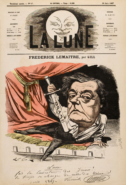 FREDERICK LEMAITRE French actor: a satirical view