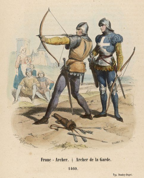 FRENCH BOWMEN. French bowmen