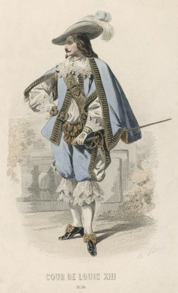 FRENCHMAN 1630. A French gentleman at the court of Louis XIII