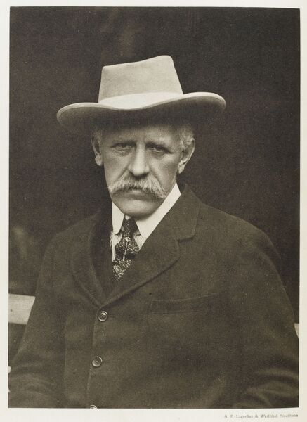 Fridtjof Nansen (1861-1930), Norwegian explorer, scientist, diplomat and humanitarian, seen here at the time he received the Nobel Peace Prize for his work on behalf of the displaced victims of the First World War and related conflicts
