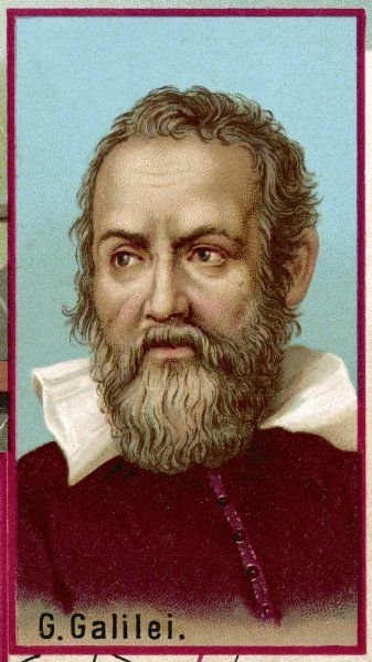 Galileo Galilei, Italian physicist, mathematician, astronomer and philosopher. He got into trouble with the church over his claim that the sun, and not the earth, is at the centre of the universe