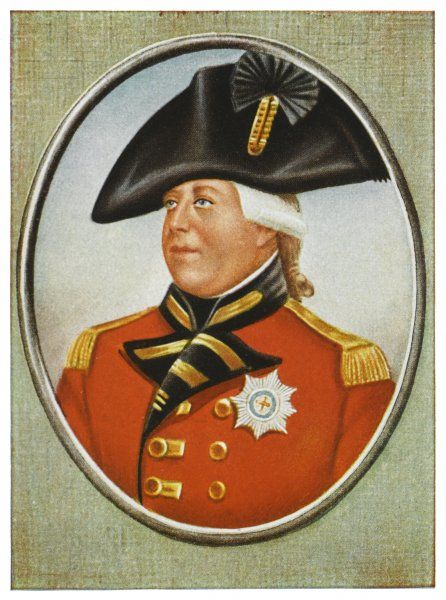 GEORGE III OF ENGLAND Colour portrait