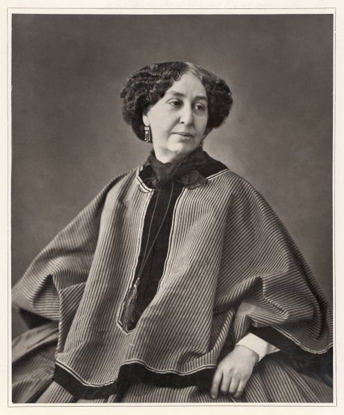 GEORGE SAND Amandine-Aurore-Lucile Dudevant, nee Dupin French writer