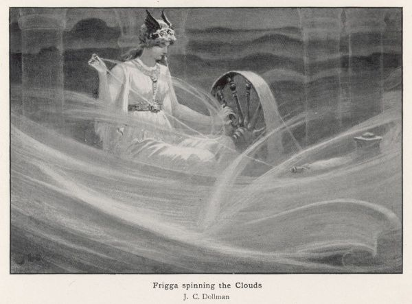 Freya (Freija/Frigga) spinning the clouds