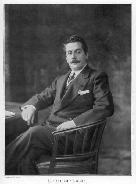 GIACOMO PUCCINI Italian musician at the time of 'Madama Butterfly'