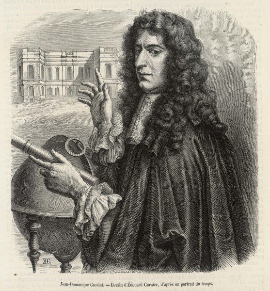 GIOVANNI DOMENICO CASSINI later Jean-Dominique, French astronomer and first Director of the Paris Observatory, who discovered four of Saturn's moons