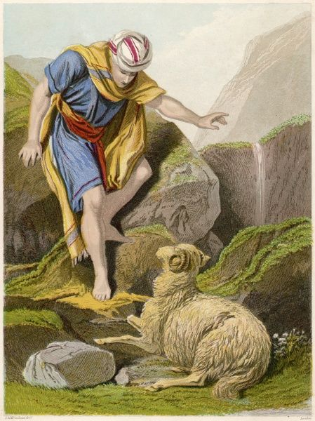 The Good Shepherd. The parable of THE GOOD SHEPHERD finding the lost sheep