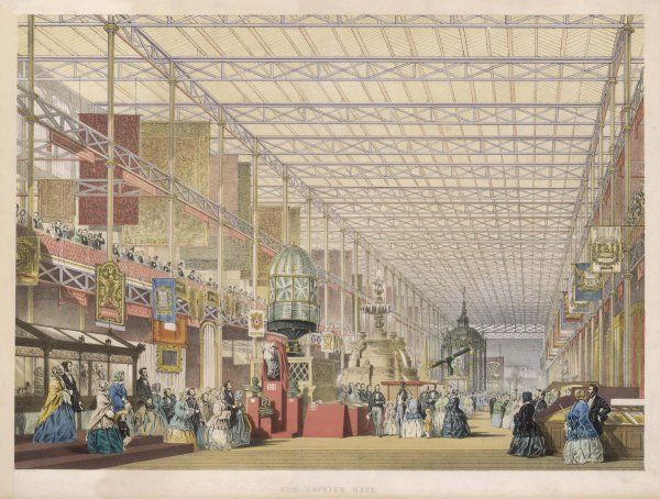 GREAT EXHIBITION. The Great Exhibition of All Nations - The British Nave Date: 1851