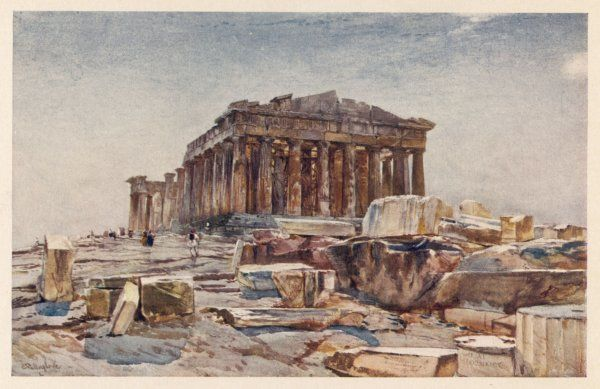 The Parthenon from the Propylaea (early morning)