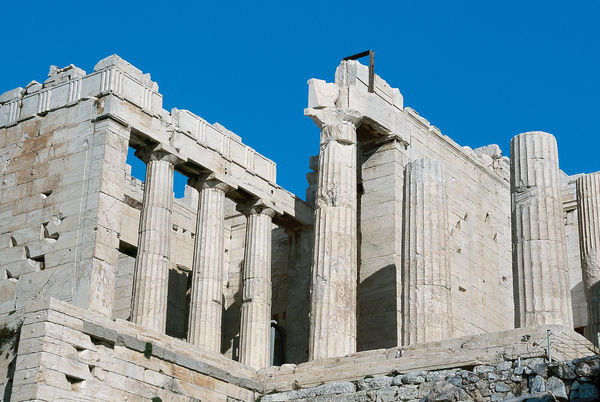 Greece. Athens. Propylaea. Monumental entrance to the sacred
