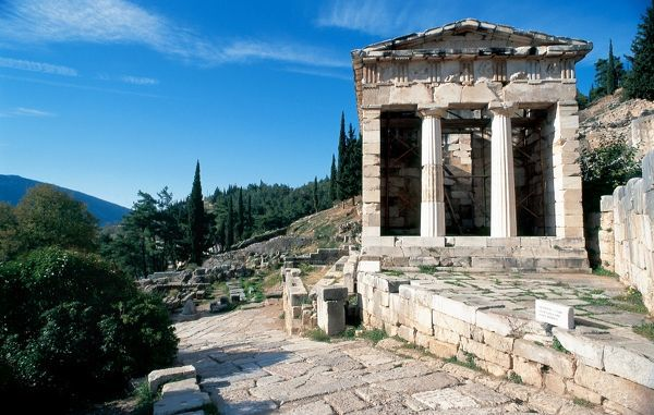 Greece. Delphi. The Athenian Treasury. 510 to 480 B.C