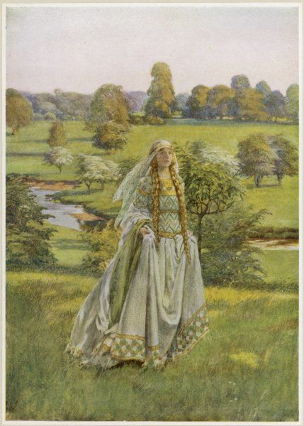 GUINEVERE. She walks through the meadows