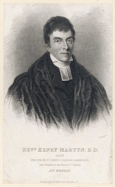 HENRY MARTYN English missionary and orientalist; translated the New Testament into Hindustani and Psalms into Persian