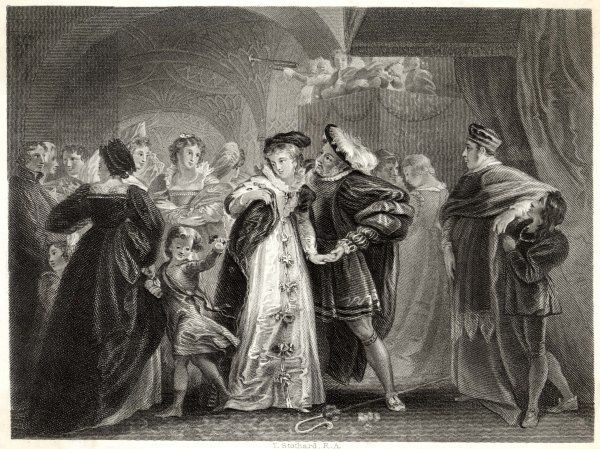 Henry VIII's first meeting with Anne Boleyn, who soon becomes his mistress