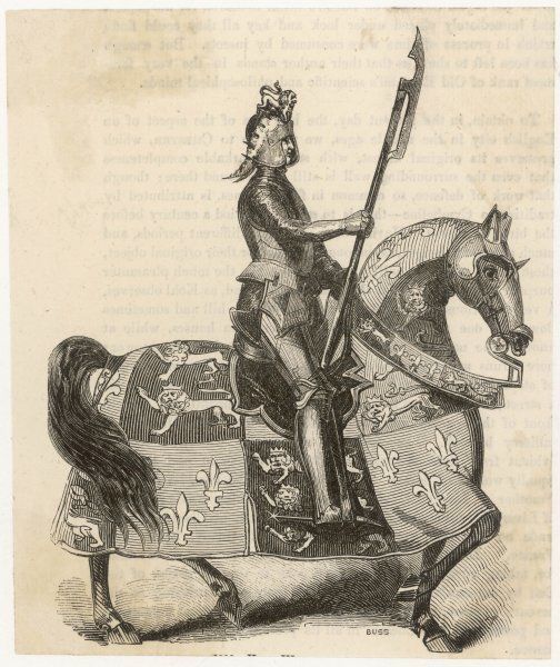 HENRY VI IN ARMOUR. HENRY VI In armour on horseback