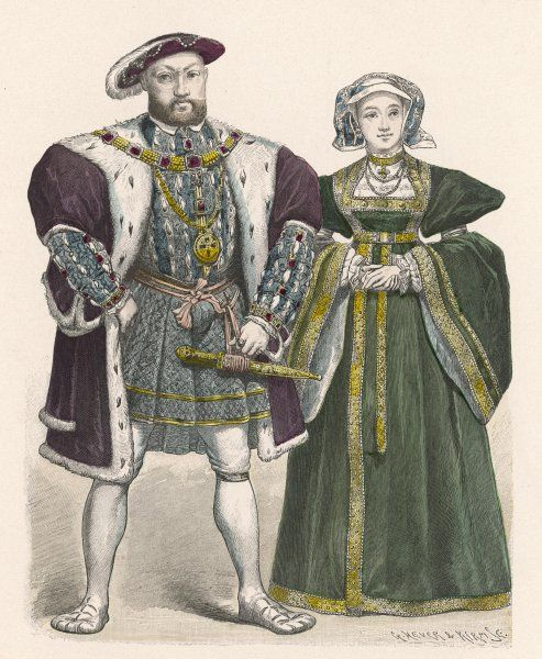 KING HENRY VIII with Anne of Cleves, 1540