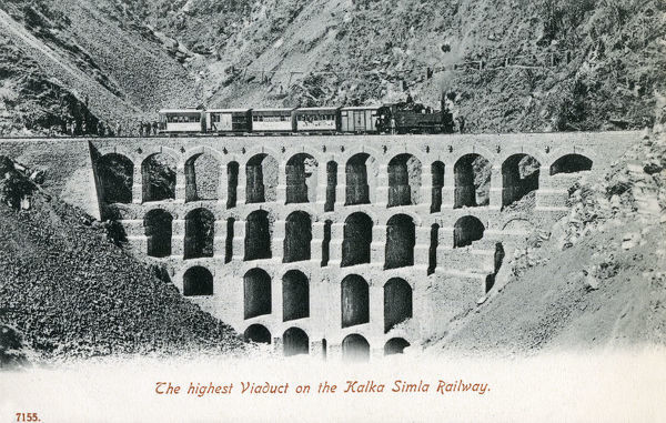 The Highest Viaduct on the Kalka-Shimla Railway - a narrow gauge railway in North-West India travelling along a mostly mountainous route. Date: circa 1910s