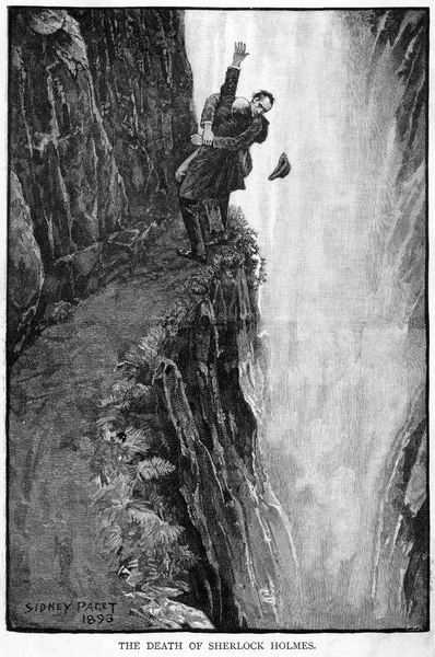THE FINAL PROBLEM The death of Sherlock Holmes; Holmes & Moriarty struggle at the Reichenbach Falls: apparently, both are killed