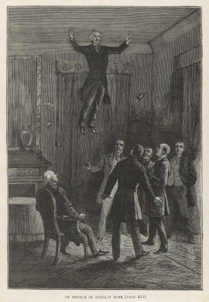A demonstration of levitation by D D Home, who on several occasions was perceived to rise to the ceiling