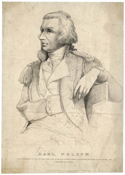 HORATIO, LORD NELSON sketched at Napoli in 1797
