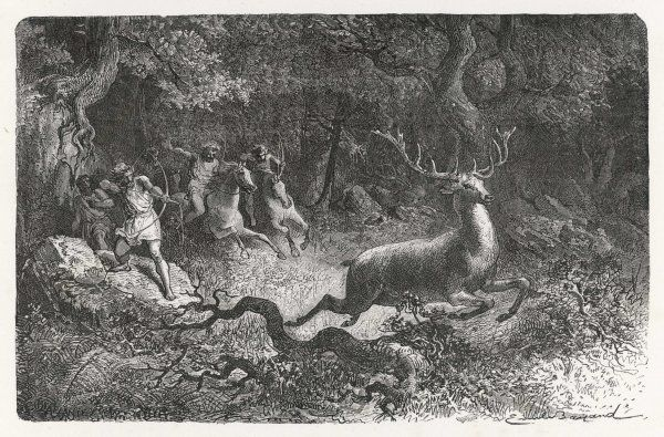 Hunting deer during the Bronze Age