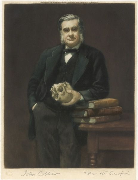 HUXLEY (1825-1895). THOMAS HENRY HUXLEY scientist
