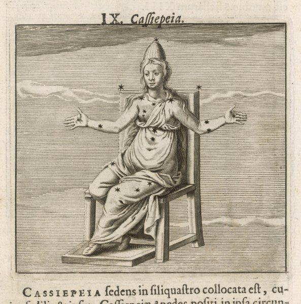 CASSIOPEIA. wife of Cepheus and mother of Andromeda