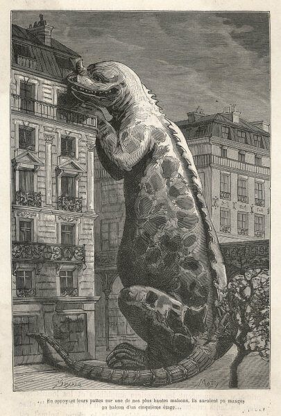 If an IGUANODON were to appear in the streets of Paris, it would reach to the highest balconies