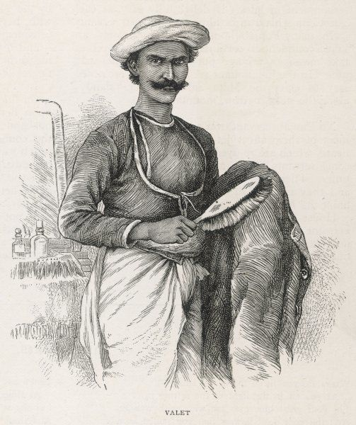 INDIAN BEARER. A bearer (butler/valet) Punjab