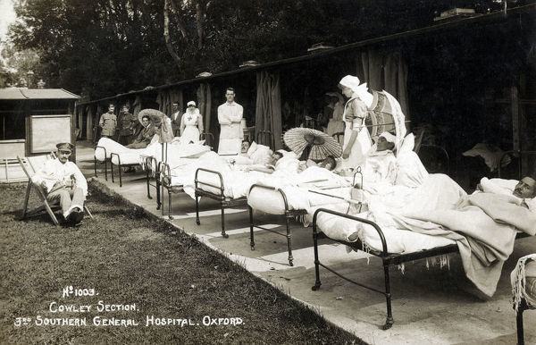 Injured soldiers - WW1 - No. 1003 Cowley Section - 3rd Southern General Hospital, Oxford