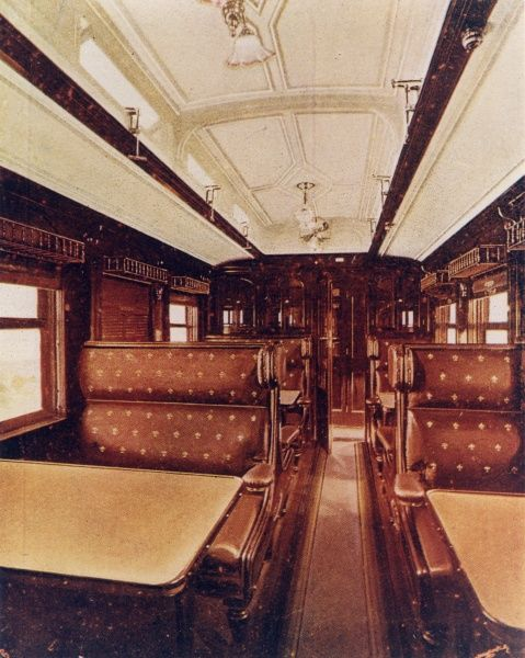 interior of dining car central south african railways interior of dining car train de luxe. Black Bedroom Furniture Sets. Home Design Ideas