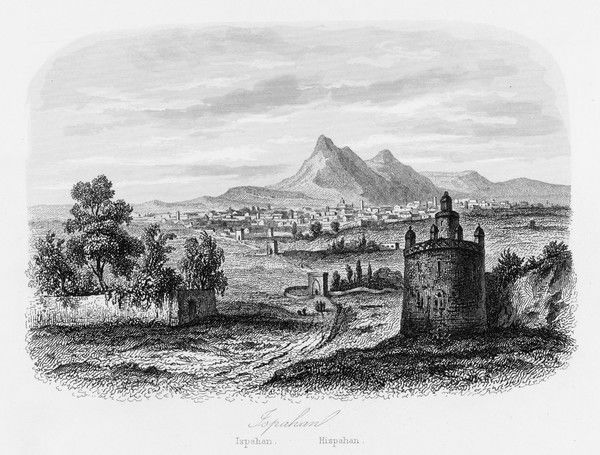 IRAN/ESFAHAN 1846. Esfahan, also known as Isfahan or Ispahan