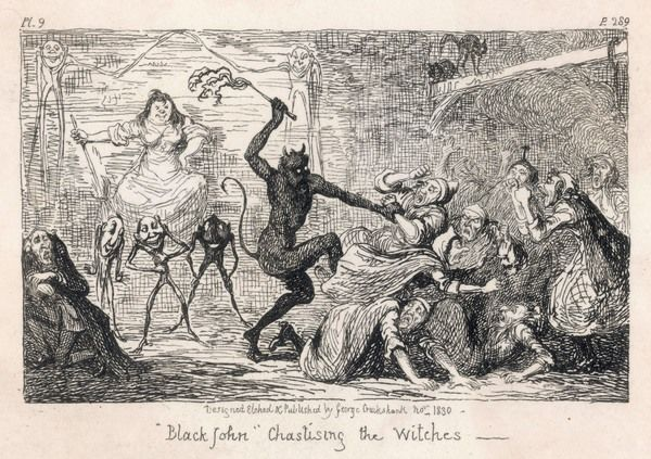 At her 1662 trial, Scottish witch ISOBEL GOWDIE tells how since 1647 she and her companions were visited by 'Black John' who chastised disobedient witches