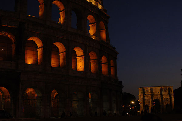 Italy. Rome. The Colosseum. 1st century A.C. Nocturnal view